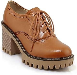 BalaMasa Womens APL11880 Pu Block Heels
