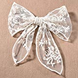 Handmade White Lace Hair Bows for Girls, Back to School Outfits for Girls, Baby Girl Stuff, Kawaii Flower Hair Accessories, Hair Clips for Women, Birthday, Party, Christmas, Wedding Hair Decoration