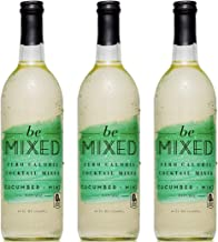 Zero Calorie Cucumber Mint Cocktail Mixer by Be Mixed | Low Carb, Keto Friendly, Sugar Free and Gluten Free Drink Mix | 25 ounce bottle, 3 pack