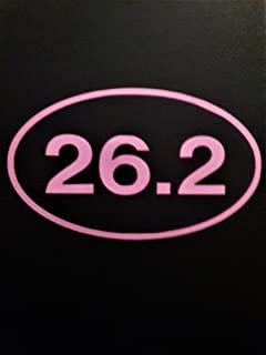 Chase Grace Studio 26. 2 Marathon Running قطعتان   ملصق ديكال من الفينيل  وردي  لوحة فنية جدارية على شكل شاحنات Vans SUV -...