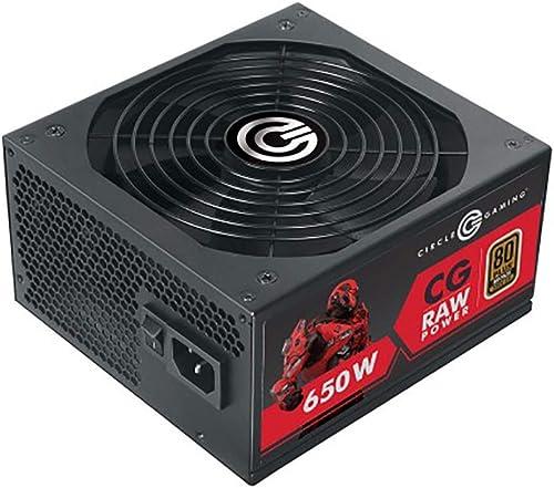 Circle Gaming APFC Modular 650 Watt 80 Plus Power Supply with Hydraulic (Black) product image