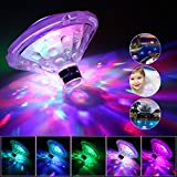 Coquimbo Swimming Pool Light, Battery Operated Baby Bath Hot Tub Lights Pool Accessories with 7 Modes LED Floating Pool Lights for Disco Pool Party Fountain (1 Pack)