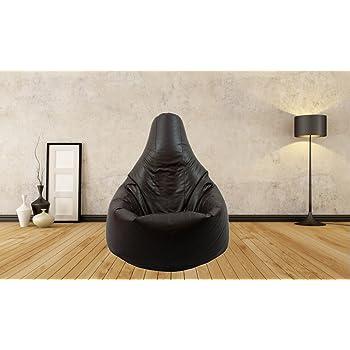 Puf sillón Puff Negro Resistente al Agua de Coche con Respaldo para Uso Interior y Exterior, Ideal para Juegos y jardín, no Cuentas: Amazon.es: Hogar
