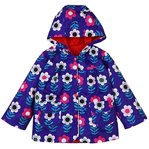 XIONGXIONG Kids Raincoat Children's Clothing Green Raincoat Children's Wear Windproof Raincoat Raincoat Raincoat Printed Hooded Jacket Raincoat All in One Dry Suit for Outdoor Play (Size : L)