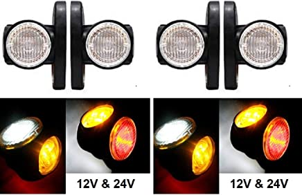 2/x LED Outline Side Vertical luci di posizione 24/V rosso bianco con 18/LED per Bus camion camper e caravan Chassis
