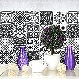 Confezione 10 Pezzi misura 20x20 cm - Made in Italy - PS00008 Decorazioni adesive Piastrelle in vinile Bagno e Cucina Stickers Design Adesivi Murali
