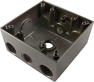 Greenfield B232BRS Series Weatherproof Electrical Outlet Box, Bronze