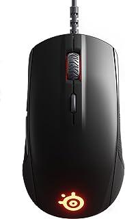 SteelSeries Rival 110 - Ratón de juego óptico, iluminación RGB, 6 botones, negro