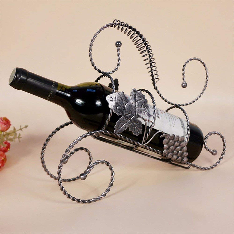 Bacaer Storage Rack Display Stand Continental Retro Wine Rack Wine Rack Wrought Iron Ornament,C