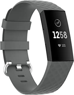 ELCM Bands Compatible with Fitbit Charge 3 and Fitbit Charge 4, Breathable Sport Band Replacement Wristbands with Air Hole...