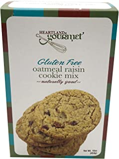 Heartland Gourmet Gluten Free Oatmeal Raisin Cookie Mix - Soft and Chewy - Certified Gluten Free Ingredients - All Purpose - Safe for Celiac Diet