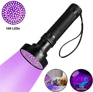 UV Flashlight Black light UV Lights, iBester Ultraviolet Blacklight Pet Urine Detector For Dog/Cat Urine, Dry Stains, Bed Bug, Matching with Pet Odor Eliminator (100 LED)