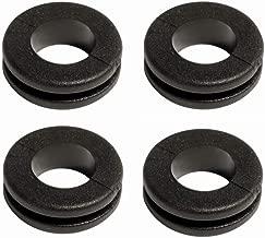 4 Kabeldurchf/ührung t/ülle weich PVC Durchgangstuelle Kabelt/ülle Planenhaken Rundkn/öpfe gummit/ülle Gummistopfen Snap On d=5 x H1=1.5