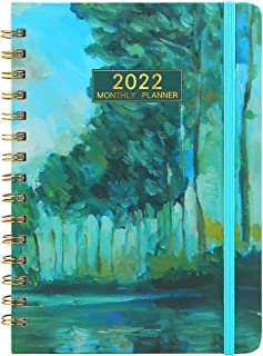 """DDAYUP 2022 Planner,Academic Weekly & Monthly Planner Notebook,A5 Planner 8.5""""x6.3"""" Flexible Cover Planner with Elastic Cl..."""