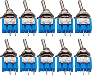 10PCS MTS-101 2-Pin SPST Touch ON/Off 6A 125V 2 Position Mini Miniature Toggle Switch