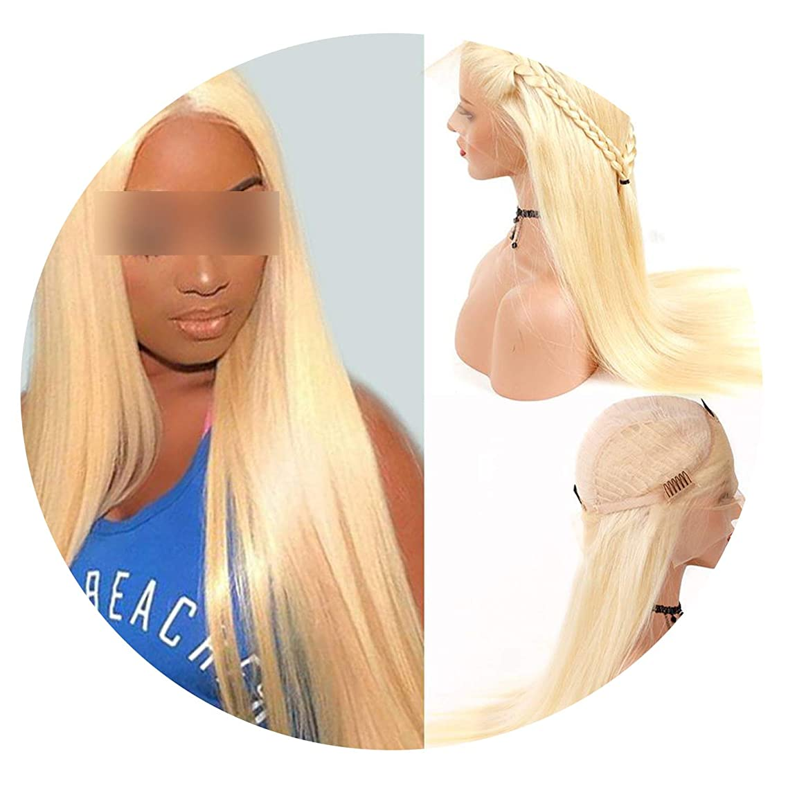 613 Honey Blonde Lace Front Human Hair Wigs Remy 150% Density Brazilian Straight Hair 13X4 Lace Frontal Wigs 613 Blonde Hair Wig,#613,6Inches,150%