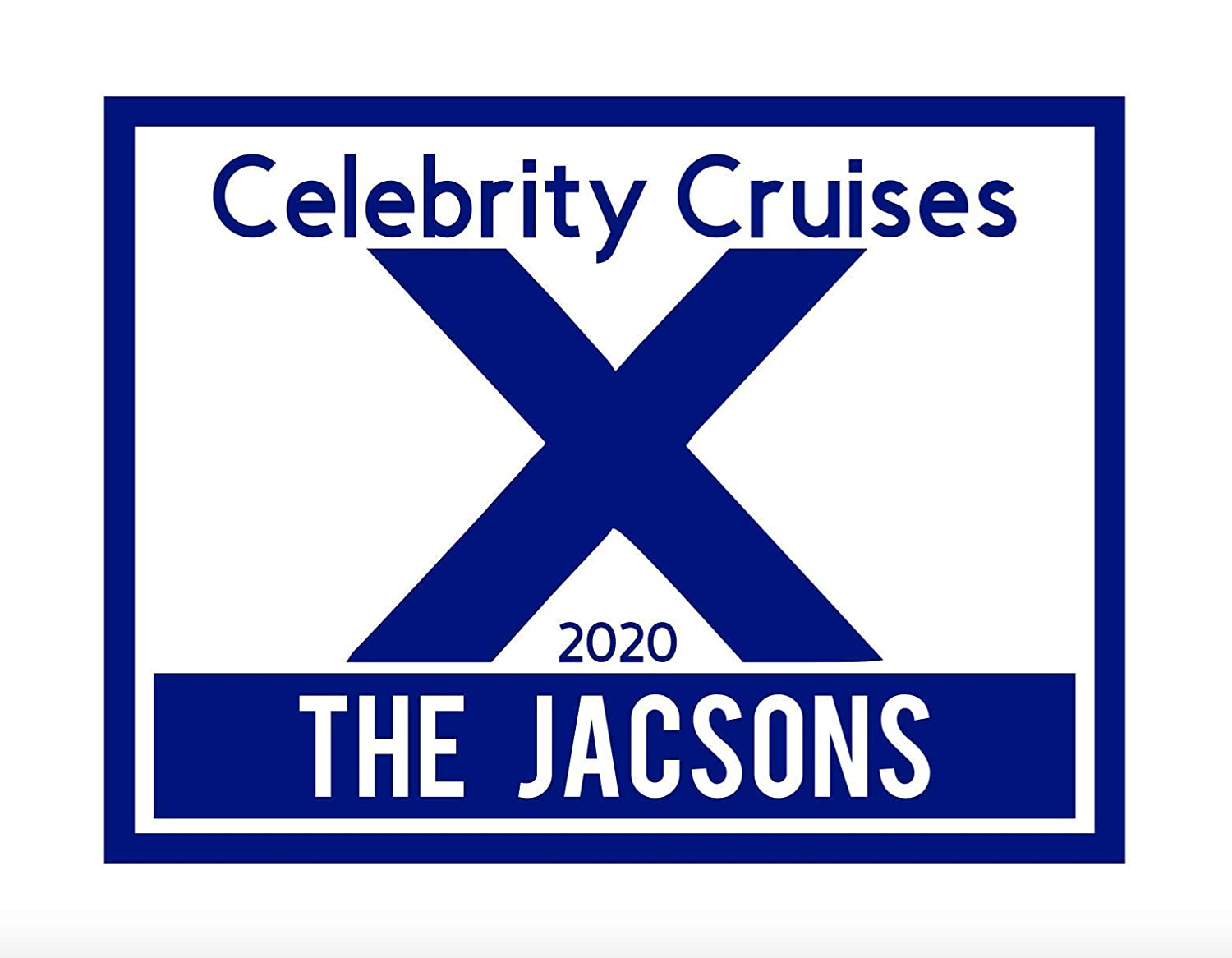 Large Celebrity Cruises Door Magnet All items Manufacturer OFFicial shop in the store fo Personalized
