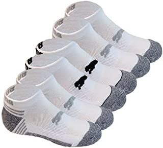 Socks All Sport Cushioned Low Cut - 6 Pack Shoe Size 4 - 9.5 (White/Grey)