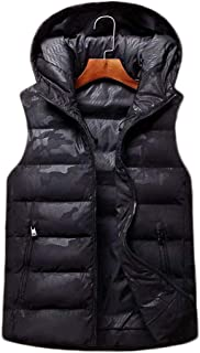 秋と冬のダウンベストの男性のルーズパッド付きベストユース学生ジャケット (色 : 黒, サイズ さいず : S s)