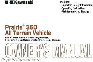99987-1050 2003 Kawasaki Prairie KVF360-A1 ATV Owners Manual