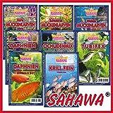 SAHAWA® Frostfutterpaket , 2 kg, 20 Blister á 100g + 2 Blister Daphnien gratis, verpackt mit Trockeneis -78°C,...