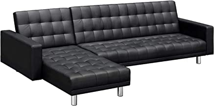 Artiss Modular Sofa 5 Seater Recliner Lounge Sofa Bed Leather Couch Chaise Chair, Black