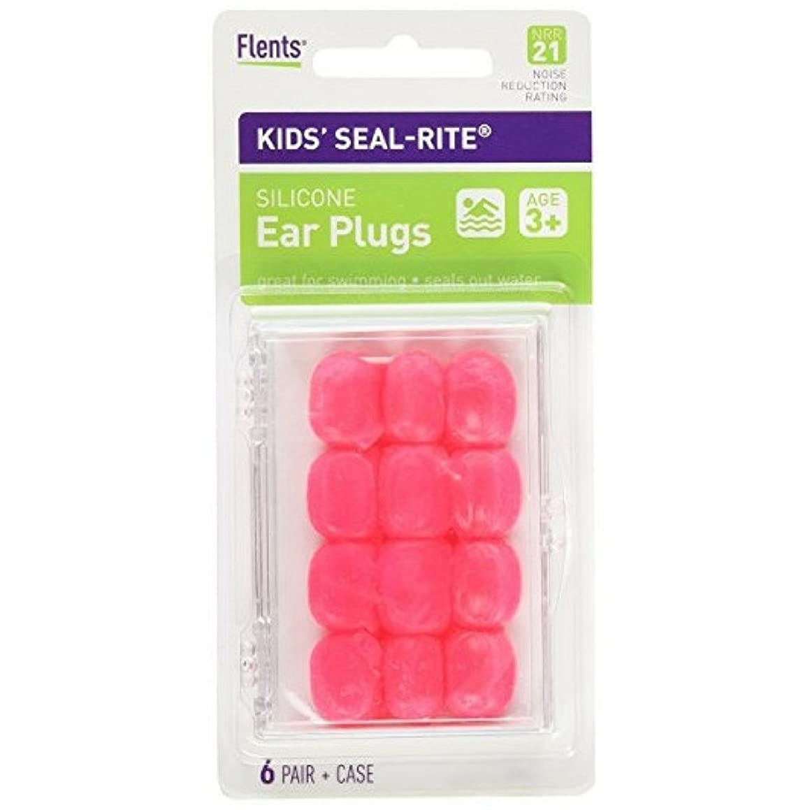 Flents Kid's Silicone Ear Plugs C265 6 Pairs (Color May Vary) (Pack of 6)