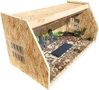 Houses Reptile House Wooden Lizard Snake Hedgehog Tortoise Feeding Box Glass Panoramic Heating Incubator Living Animal Rep...