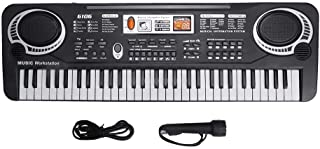 61 Keys Musical Instruments, with Microphone Piano Keyboard,