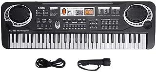 Electric Keyboard Piano 61-Key, Piano Keyboard 61 Key Electric Digital Music Keyboard Portable Electronic Musical Instrume...
