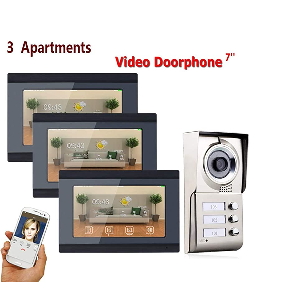 JINPENGRAN 7-inch Smart Video doorbell Remote intercom Access Control System HD Infrared Camera