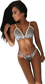 996d95878cc06 Outsta Women Women Girls Sexy Push up Lingerie Bandage Sports Underwear Set  Bra+Pants