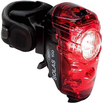 NiteRider Solas 100 lúmenes USB Recargable luz Trasera para Bicicleta Potente luz Diurna Visible luz LED Trasera fácil de Instalar en Carretera, montaña, Ciudad, Viajes, Ciclismo, Seguridad Flash