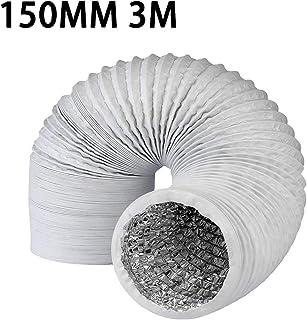 Hezhu PVC Abluftschlauch für Klimaanlagen, Wäschetrockner, Abzugshaube 150MM 3M