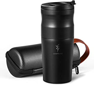 Soulhand USB Electric 5 in 1 Travel Coffee Grinder Burr Coffee Grinder with Stainless Steel Filter A Mobile Portable Coffe...