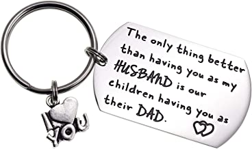 Melix Home to My Husband The Only Thing Better Than Having You As My Husband is Our Children Having You As Their Dad Keychain