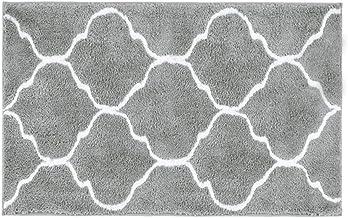 "HEBE Microfiber Bathroom Rugs Mats Geometric, Non Slip Absorbent Bath Rugs Floor Mat Machine Washable, 20"" W x 32"" L"