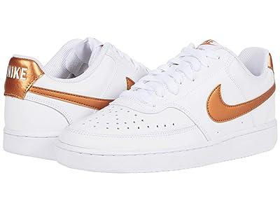 Nike Court Vision Low (White/Metallic Copper) Women