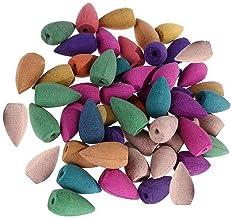 50pcs Blackflow Incense Cones 10 Mixed Scents Sandalwood,Rose,Lemon,Jasmine,Mint,Green Tea,Lavender,Lily,Carnation,Ocean