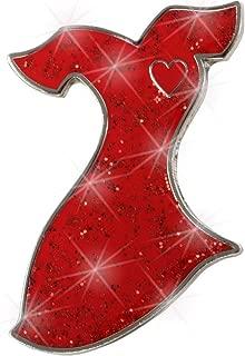 """Red Dress Glitter Lapel Pin 1"""""""
