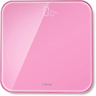S Body High Precision Ultra Wide Digital Body Weight Bathroom Scale up to 396lb/180kg, Super-Clear Large LED Display,