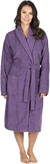 Forever Dreaming Womens Luxury French Towelling Bath Robe - Cotton Dressing Gown