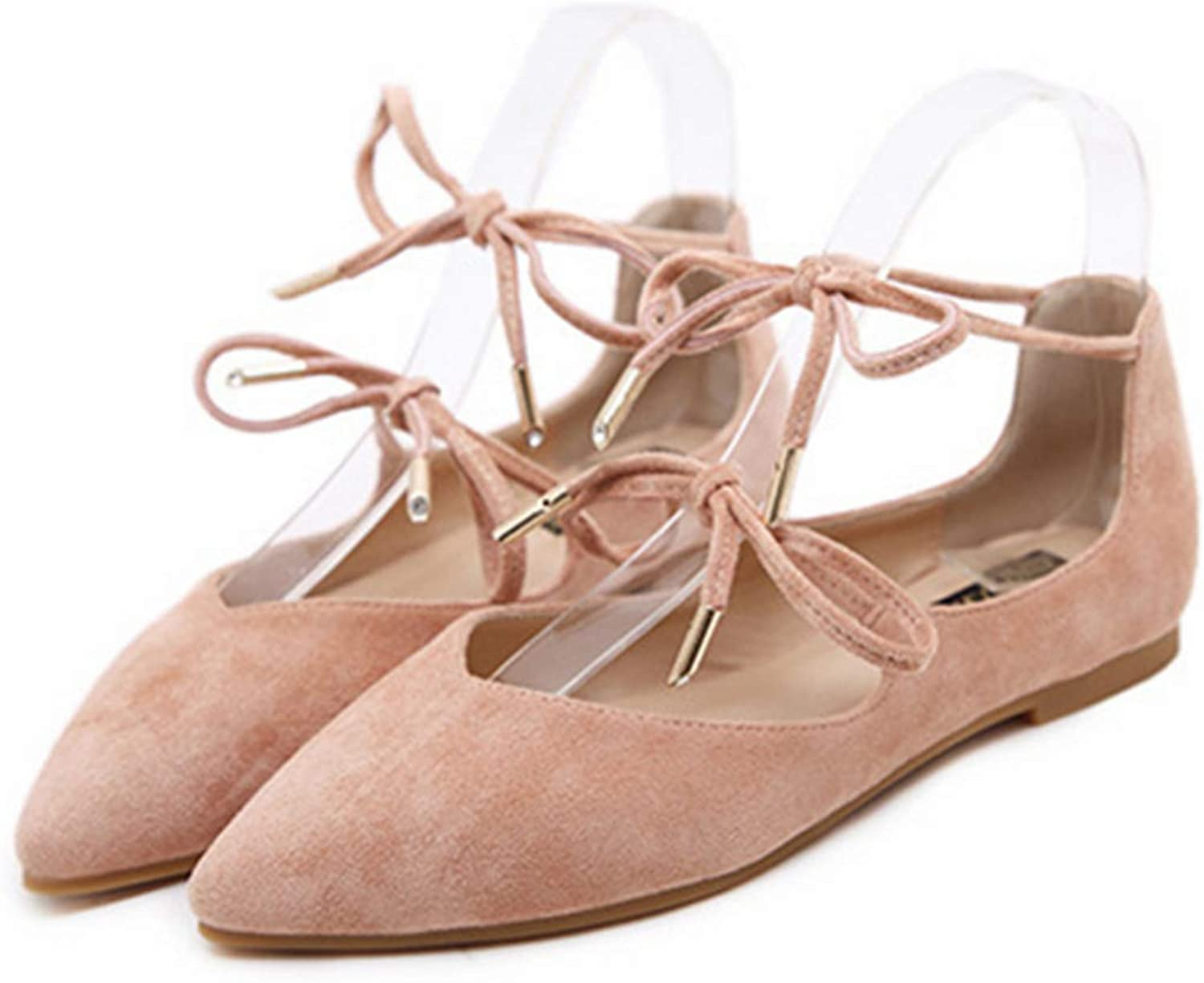 Women Flats, Pointed Toe Loafers Ballerina Ballet Slip On shoes
