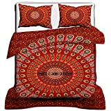 Janki Creation Indisches Mandala-Bettbezug,