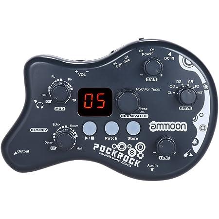 ammoon Múltiples Efecto Pedal PockRock Guitarra Portátil Procesador de Efectos 15 Tipos de Efectos 40 Ritmos del Tambor Función de Ajuste con ...