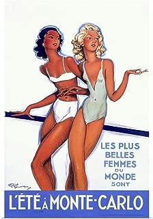 GREATBIGCANVAS Poster Print Entitled Lete a Monte Carlo, Vintage Poster, by Jean Gabriel Domergue by 12