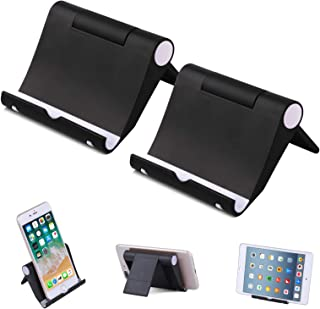 "Elimoons Phone Stand, 2 Pack Multi-Angle Cell Phone Stand Tablet Stand Universal Smartphones for Holder Tablets(6-11""), e-..."