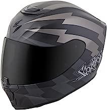 Scorpion EXO-R420 Full-Face Tracker Street Bike Motorcycle Helmet - Titanium/Black/Medium