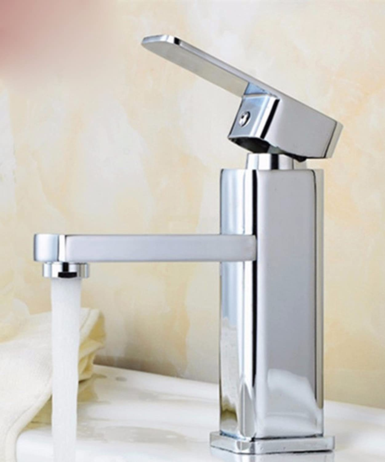 Hlluya Professional Sink Mixer Tap Kitchen Faucet The copper, stainless steel, hot and cold water bath faucet,F