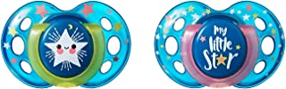 Tommee Tippee Closer to Nature Night Time Baby Soothers, Multi-Color, 18-36M, 2 Count, Multi-Colour